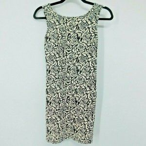 Forever 21 Dress Bodycon Black/White Floral Small